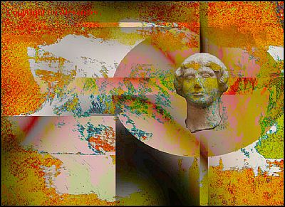 Ancient Girl and Abstract